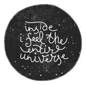 Unique hand drawn text on the universe background — ストックベクタ