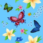 Flying bright butterflies — Stock Vector