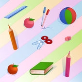 Childish bright colorful pattern — Wektor stockowy