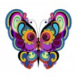 Decoration Bright butterfly — Stock Vector #62890543