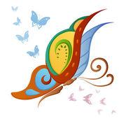 Abstrat decorative butterflies — Stock Vector