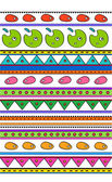 Ethnic patterned stripes — Stock Vector