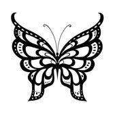 Abstraktní dekorativní motýl. — Stock vektor