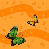 Flying bright butterflies — Stockvektor