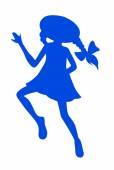 Little playing girl — Stock Vector