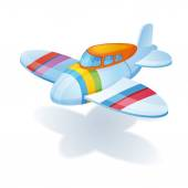 Bright colorful airplane — Stock Vector
