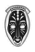 African tribal mask — Stock Vector