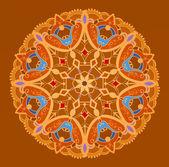Geometric multicolor circle element — Stock Vector