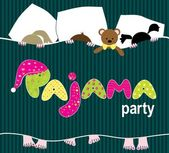 Pajama party — Stock Vector