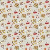 Cartoon forest pattern — Stock Vector