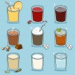 Soft drinks set — Stock Vector #63084961