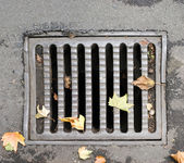 Metal Storm Drain — Stock Photo