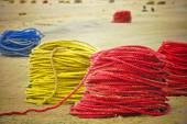 Colourful Fishing Ropes — Fotografia Stock