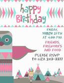 Happy Birthday card — Cтоковый вектор