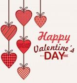 Tarjeta de feliz día de San Valentín — Vector de stock
