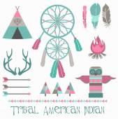 Indian tribal set — Stock Vector