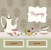 Tea party — Stock Vector