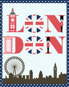 London card — Stock Vector