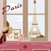 Paris card — Stock Vector