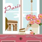 Paris card — Cтоковый вектор