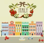 Italy card — Stock Vector