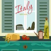 Italy card — Vecteur