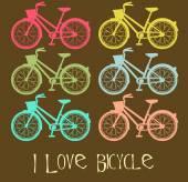 Uwielbiam rower — Wektor stockowy
