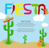 Fiesta card — Stock Vector