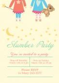 Slumber party — Stock Vector