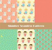 Sweet dreams pattern — Stock Vector