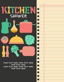 Kitchen Shower — Stock Vector