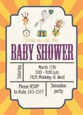 Dziecko prysznicem karty — Wektor stockowy
