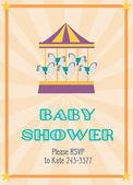 Carte de douche de bébé — Vecteur