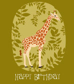 Happy Birthday card — Stockvektor