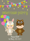 Costume party — Stock Vector
