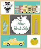 New York city set — Stock Vector