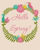 春カード — ストックベクタ