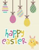 Mutlu Paskalya kartı — Stok Vektör