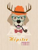 Hipster kartı — Stok Vektör