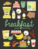 Frukost mat uppsättning — Stockvektor