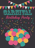 Carnival party card — Stock Vector