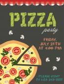 Pizza partisi — Stok Vektör