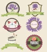 Provence label set — Stockvektor