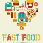 Постер, плакат: Fast food