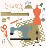 Conjunto de costura — Vetor de Stock
