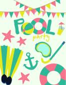 Pool party invitation — Stock Vector