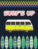 Surf party — ストックベクタ
