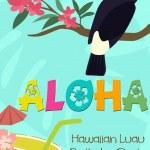 Aloha party — Stock Vector #68936369