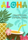 Aloha party — Stock Vector
