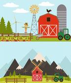 Organic food. American farm — Wektor stockowy